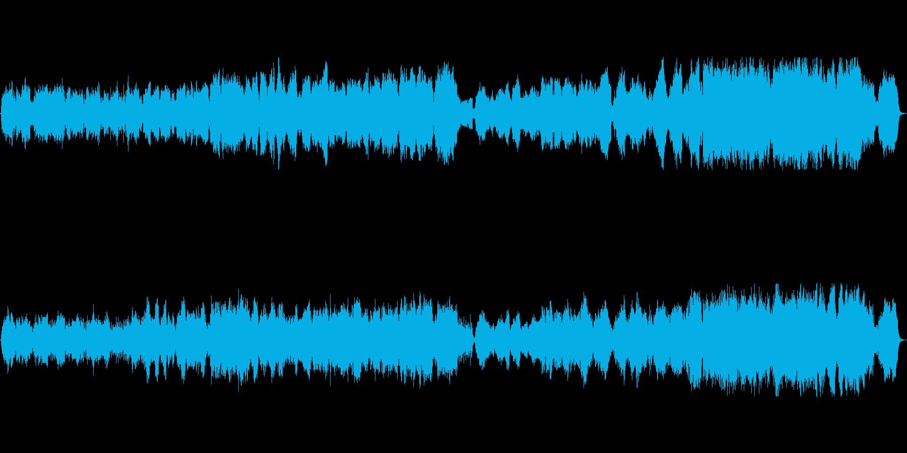 空撮映像にぴったりなオーケストラ曲の再生済みの波形