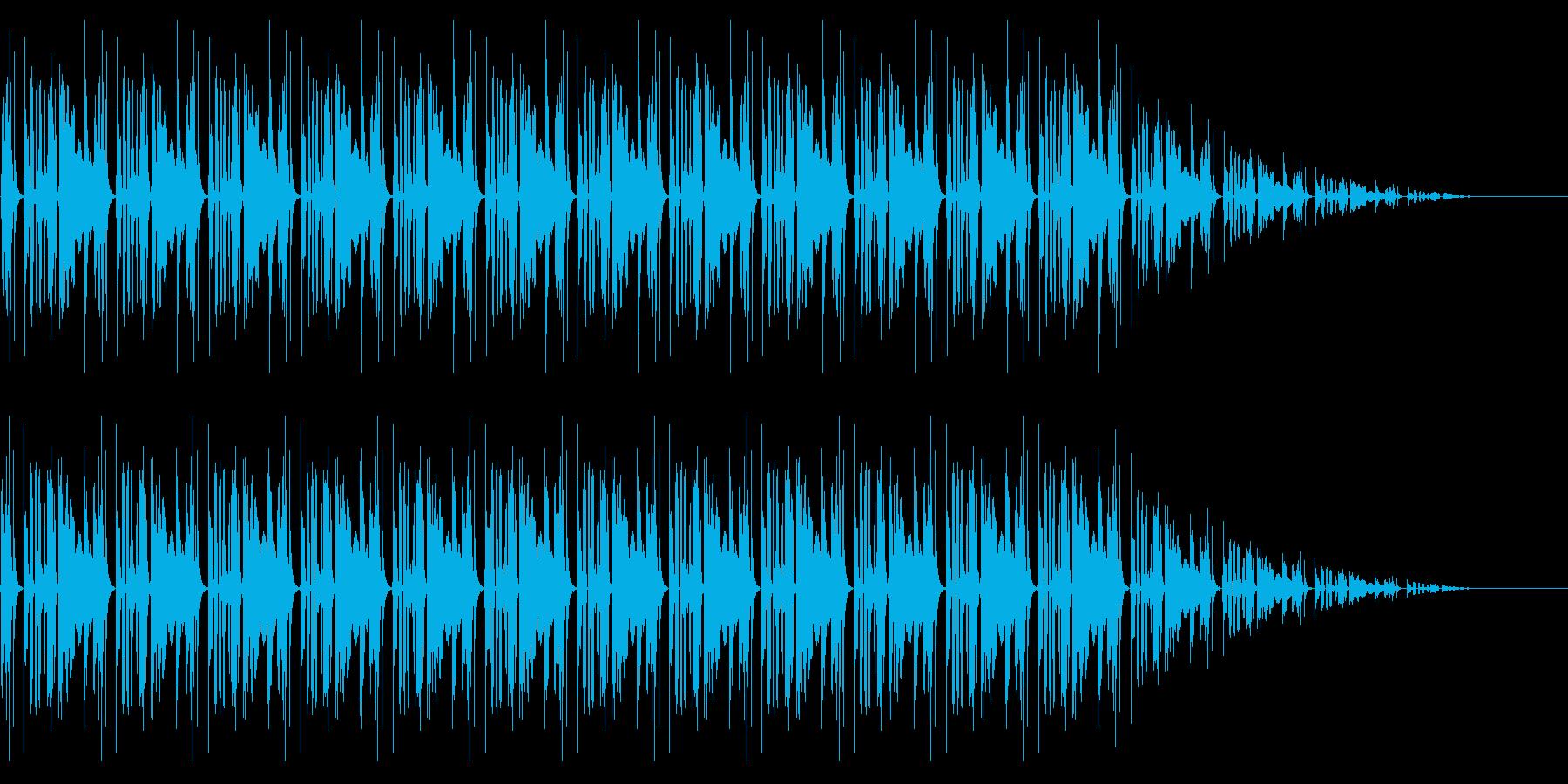 コミカルな擬音ループの再生済みの波形