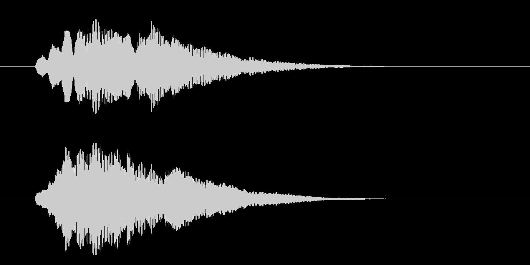 チャララン(フルート風の効果音)の未再生の波形