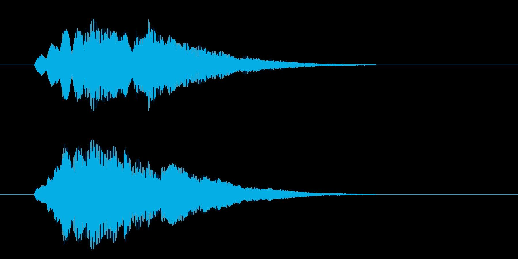 チャララン(フルート風の効果音)の再生済みの波形