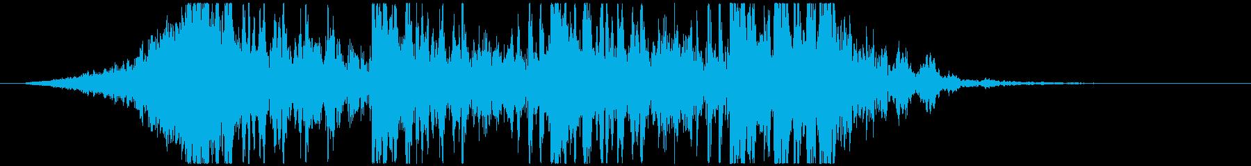 壮大で激しいリズムのサウンドロゴA(長)の再生済みの波形
