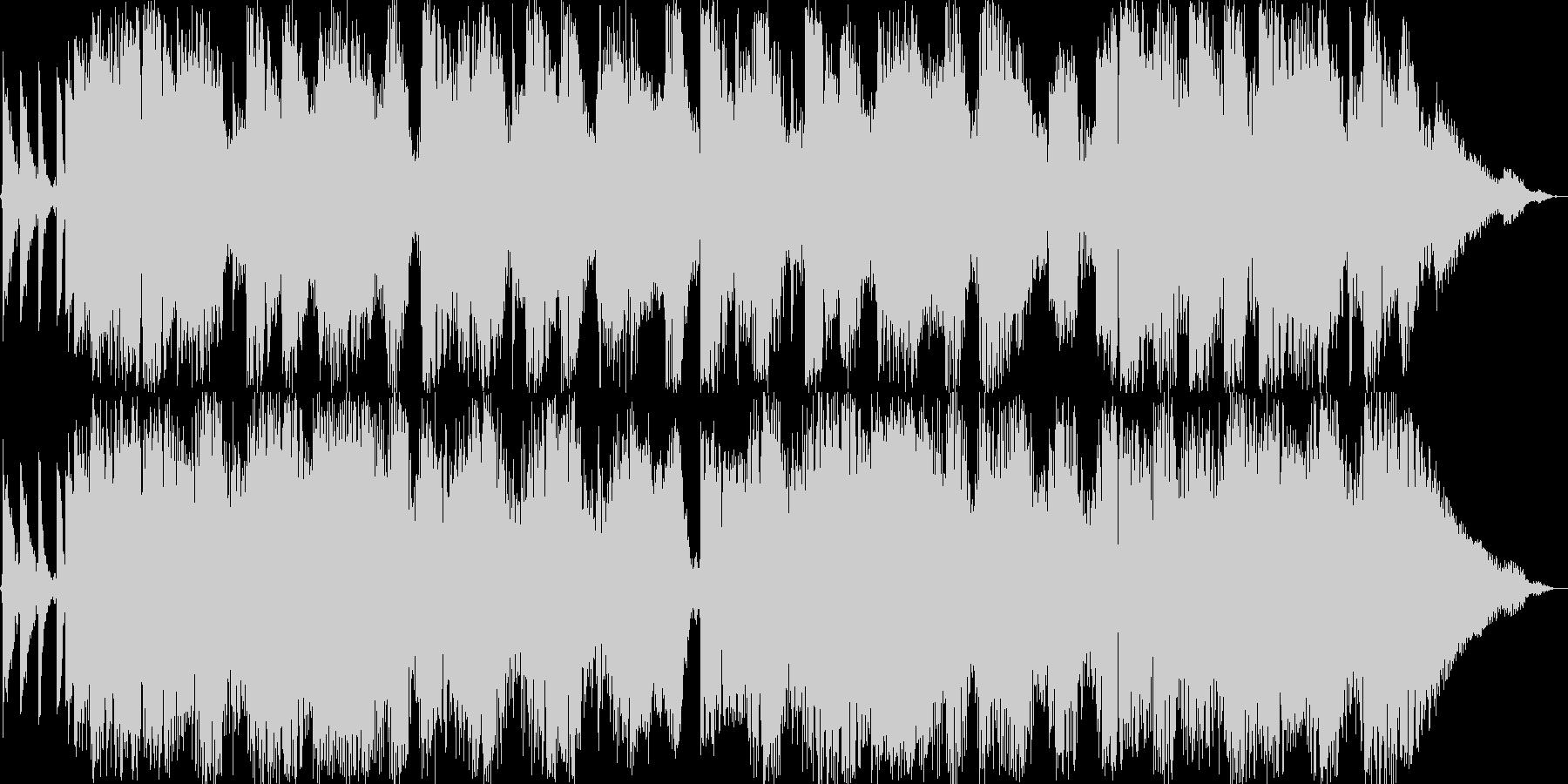 厚みのあるエレクトロサウンドの未再生の波形