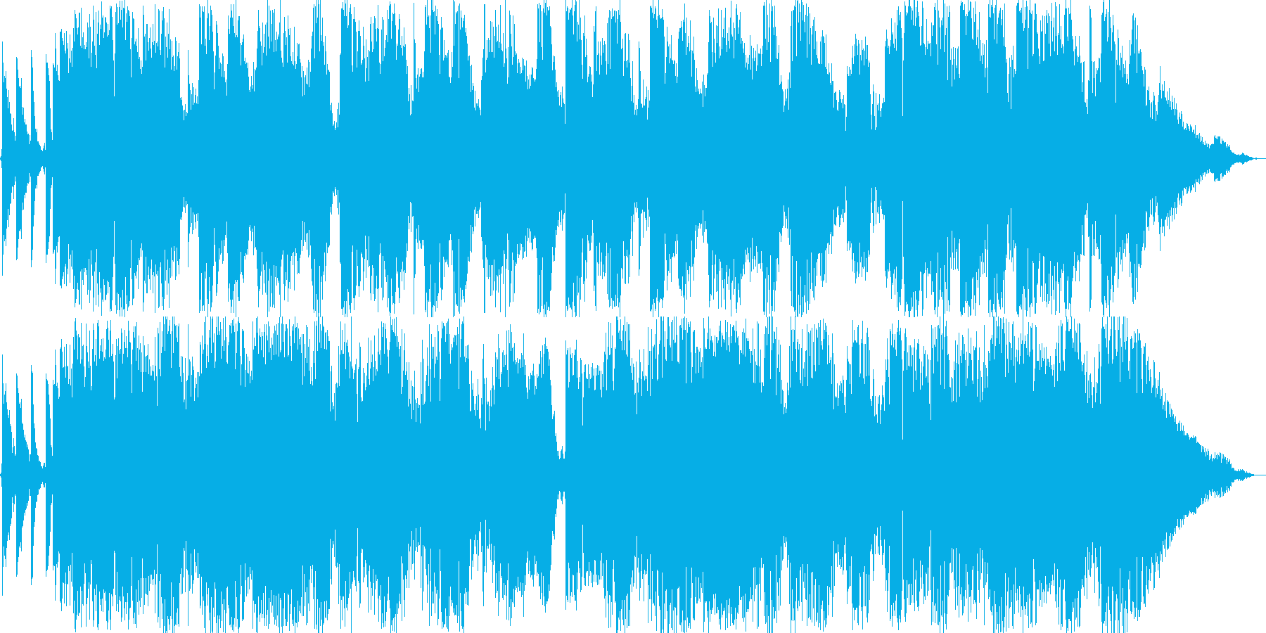 厚みのあるエレクトロサウンドの再生済みの波形