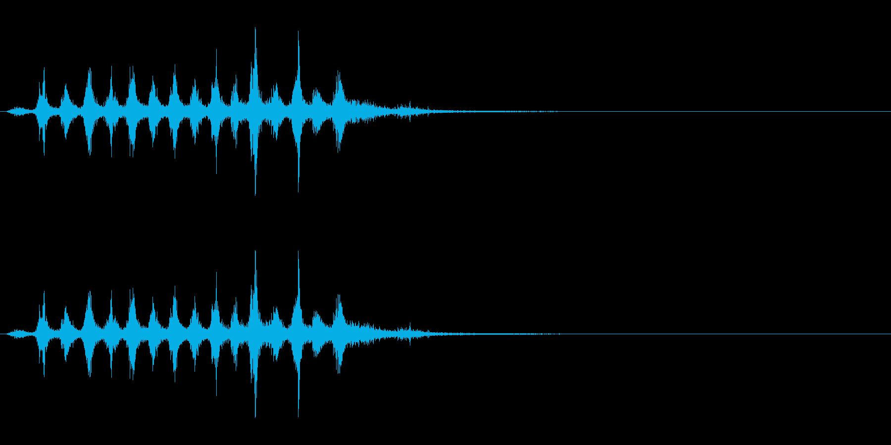 「シャカシャカ」木製シェイカー振り音FXの再生済みの波形