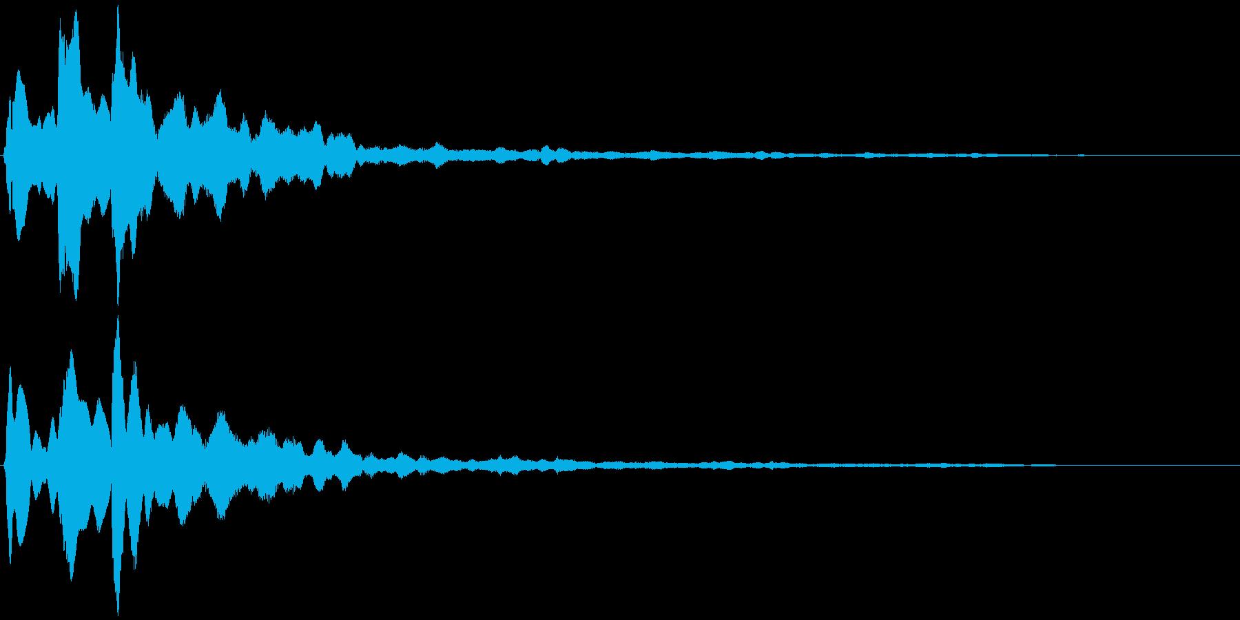 キラーン  (瞬き、余韻)の再生済みの波形