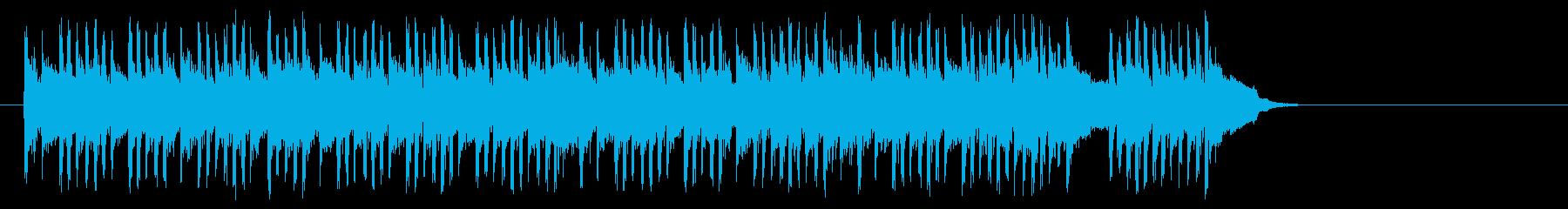 テンポの良いポップ(サビ~イントロ)の再生済みの波形