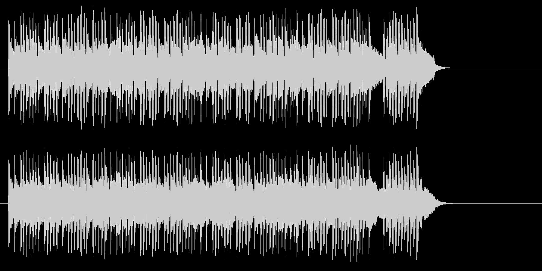 テンポの良いポップ(サビ~イントロ)の未再生の波形