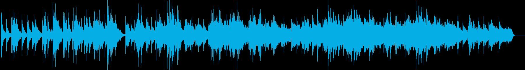 旅立ちを演出するスローなピアノバラードの再生済みの波形
