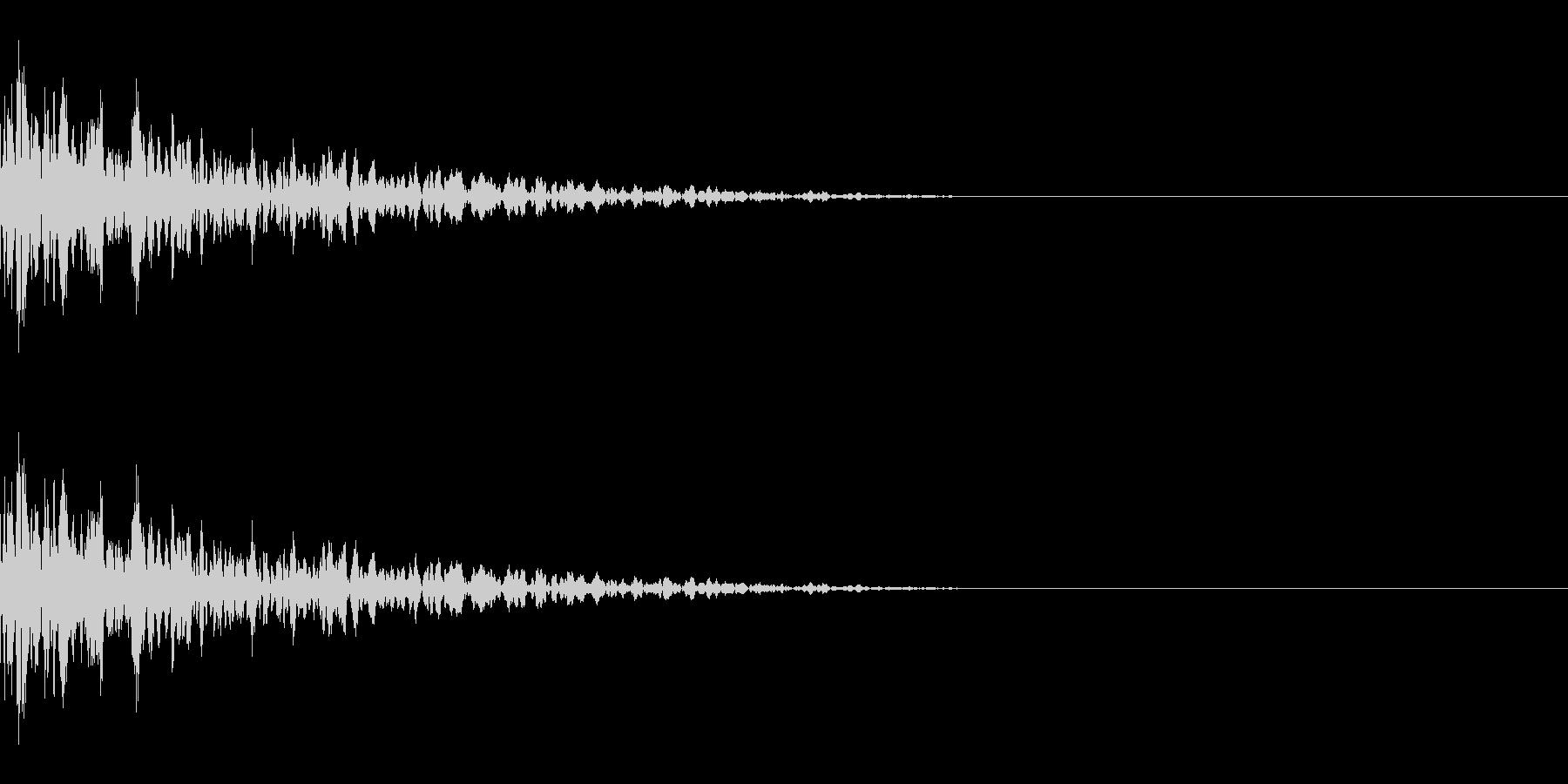 コーン(氷/固いものにぶつかって崩れる)の未再生の波形