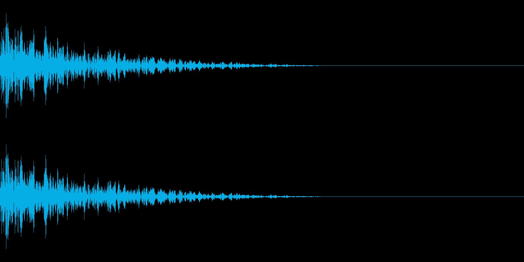 コーン(氷/固いものにぶつかって崩れる)の再生済みの波形