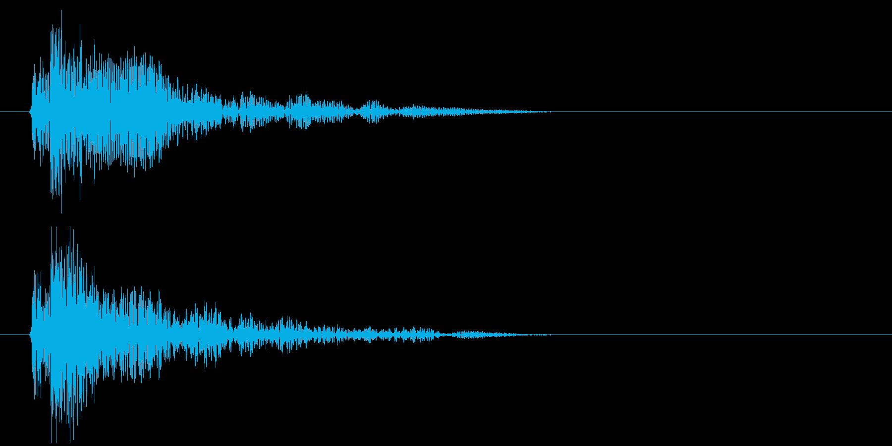 ショックの再生済みの波形