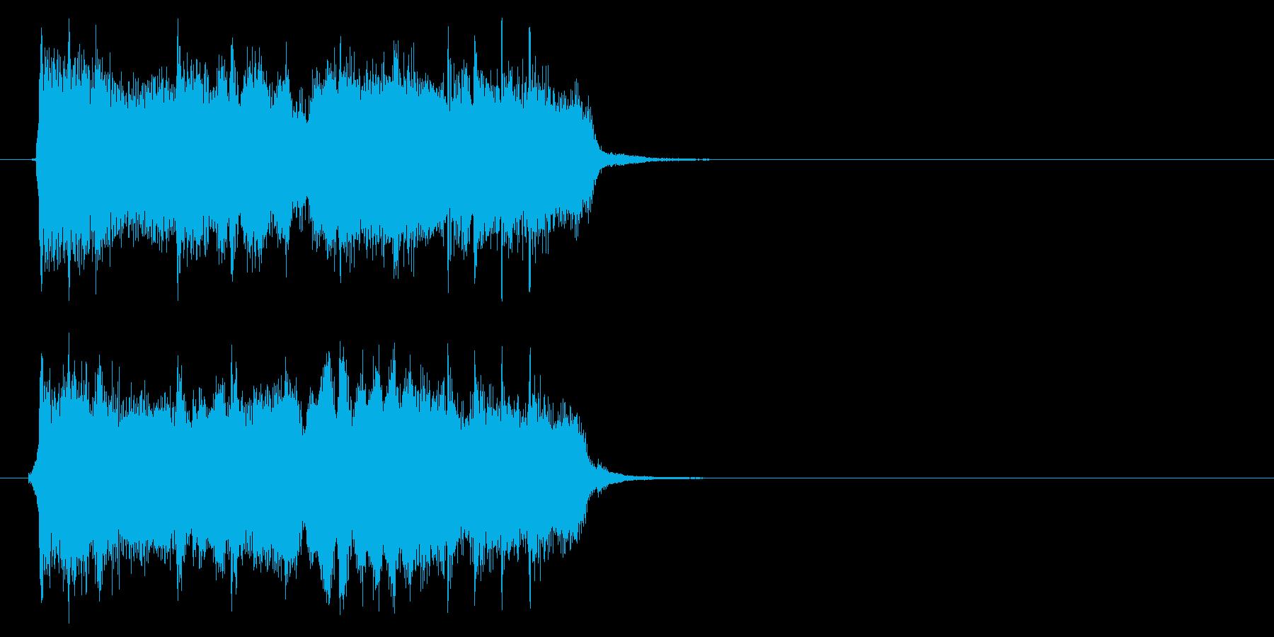 ロック、ヘヴィメタル系ジングルの再生済みの波形