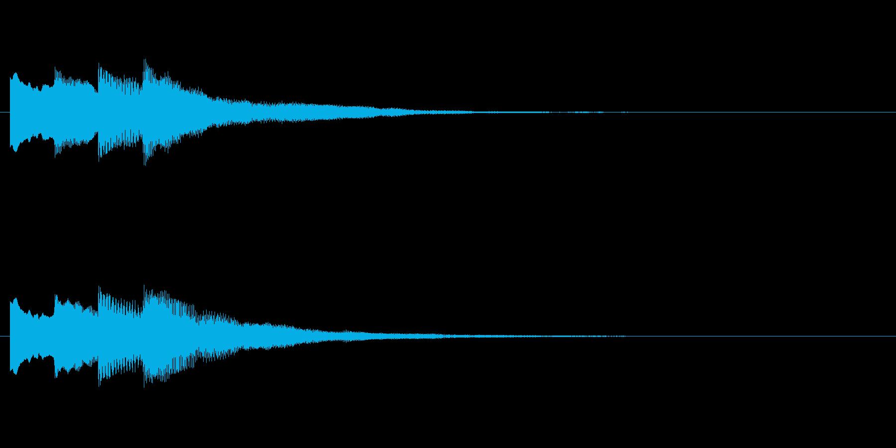 【チャイム 注意01-down】の再生済みの波形