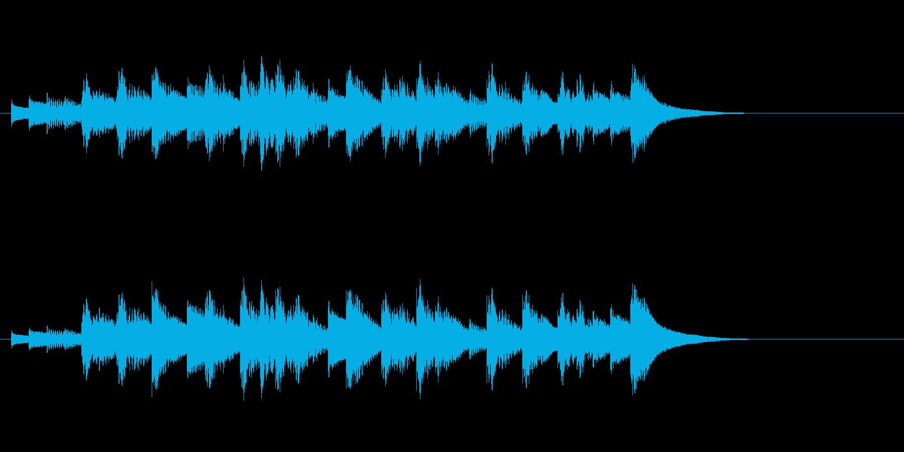 優しいオルゴールに、邪魔しない程度のピ…の再生済みの波形