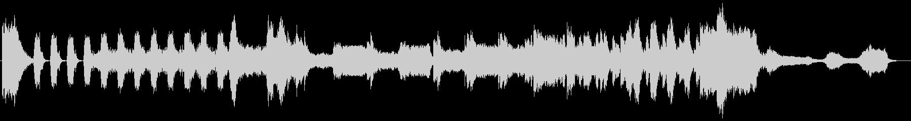 終焉をイメージしたBGMの未再生の波形