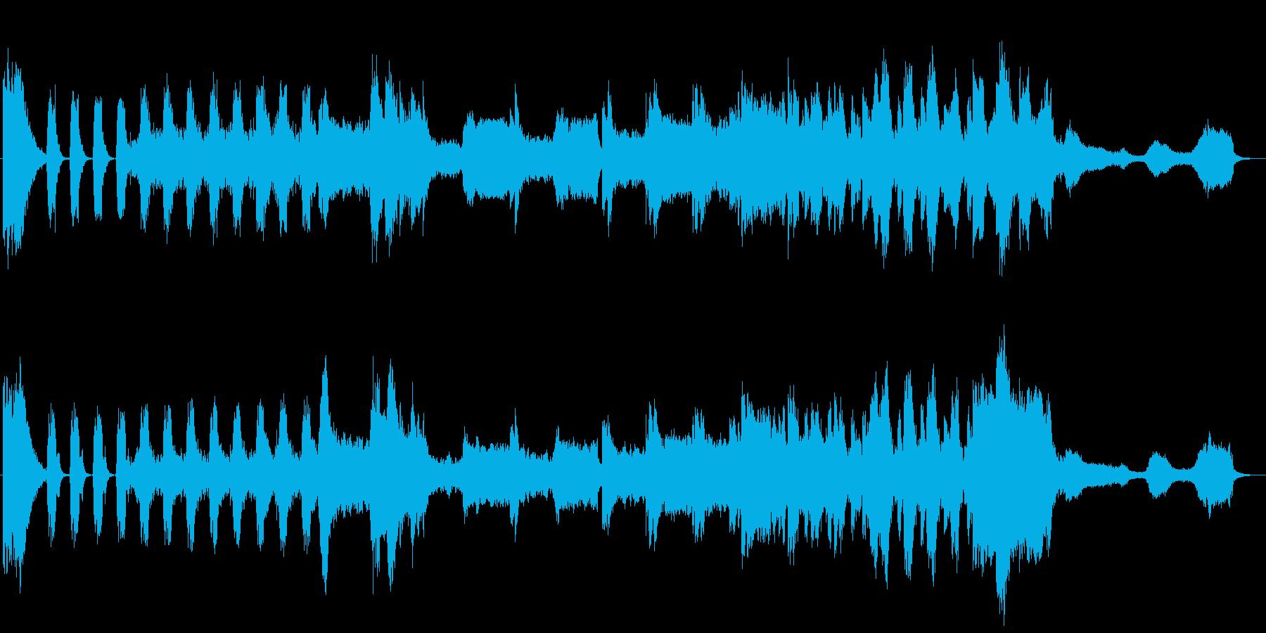 終焉をイメージしたBGMの再生済みの波形