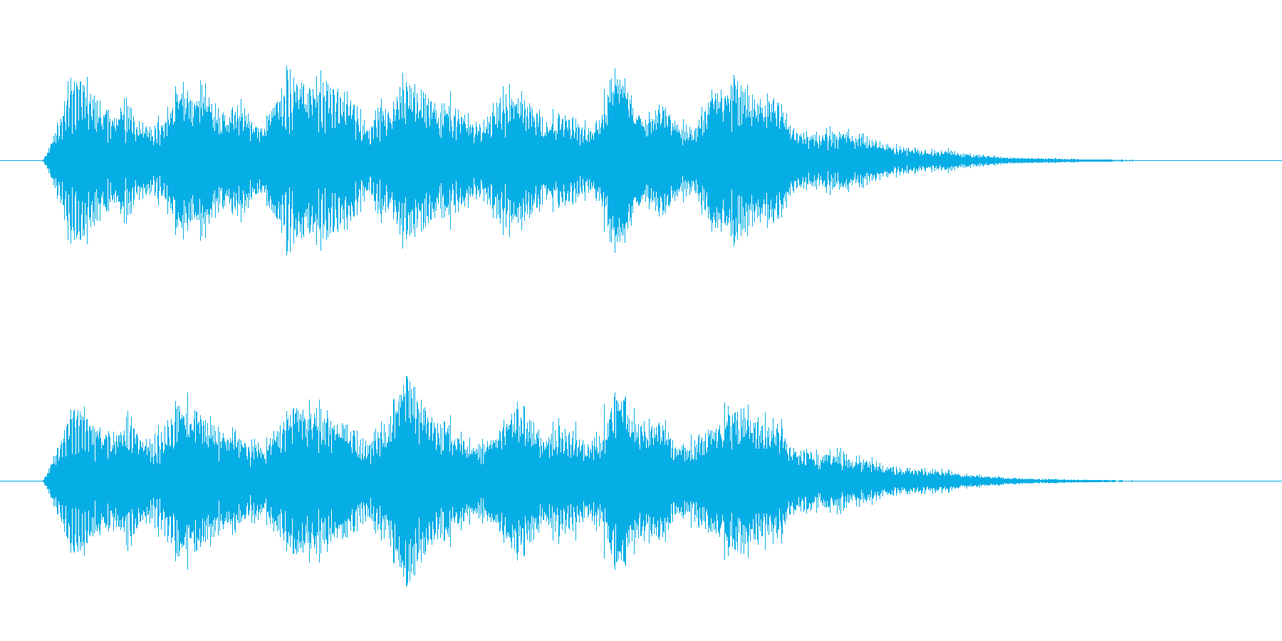 電子音 パラノイア 恐怖の再生済みの波形