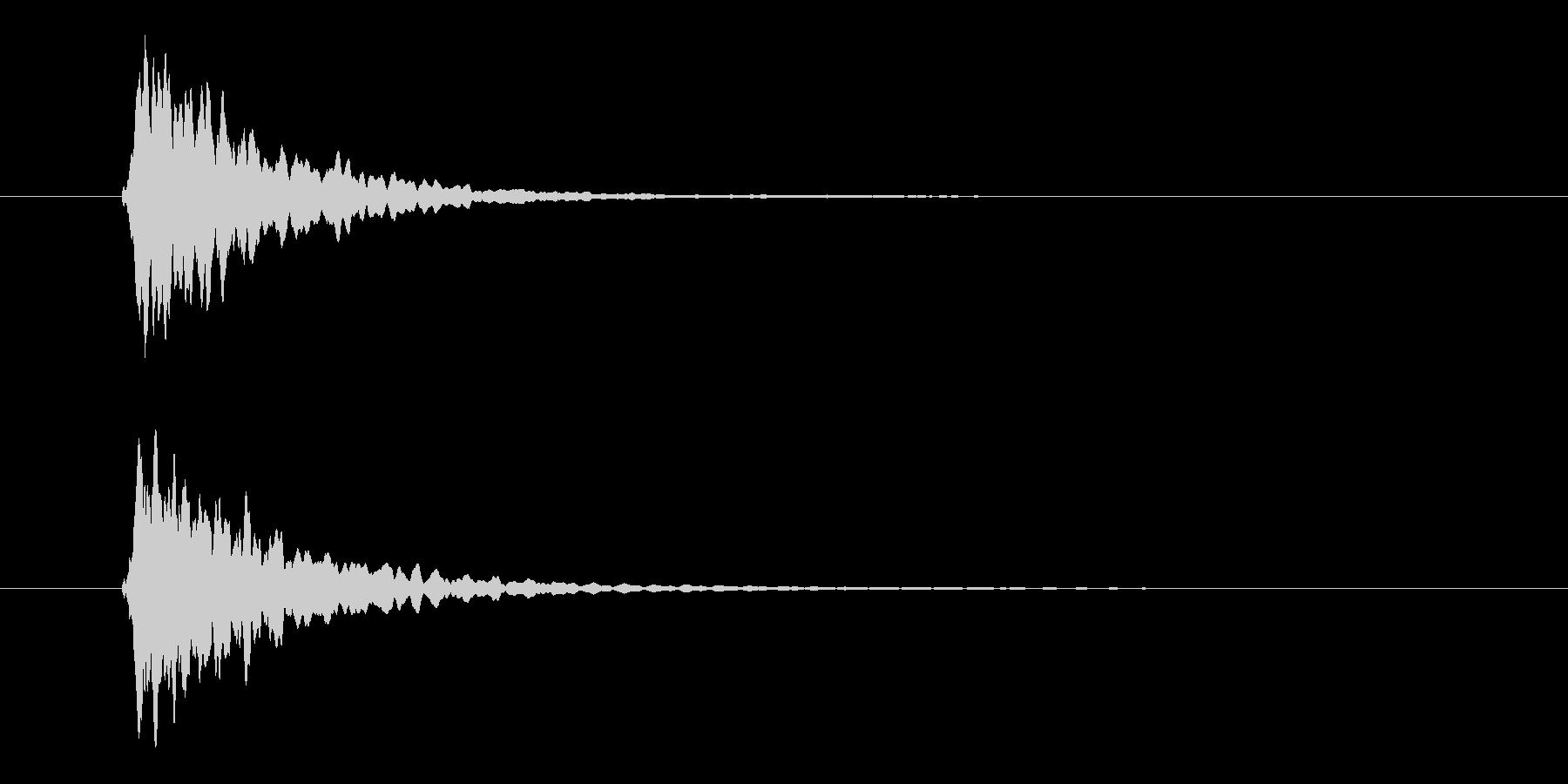 ピーン、テロップ音、シンプル、座布団の未再生の波形