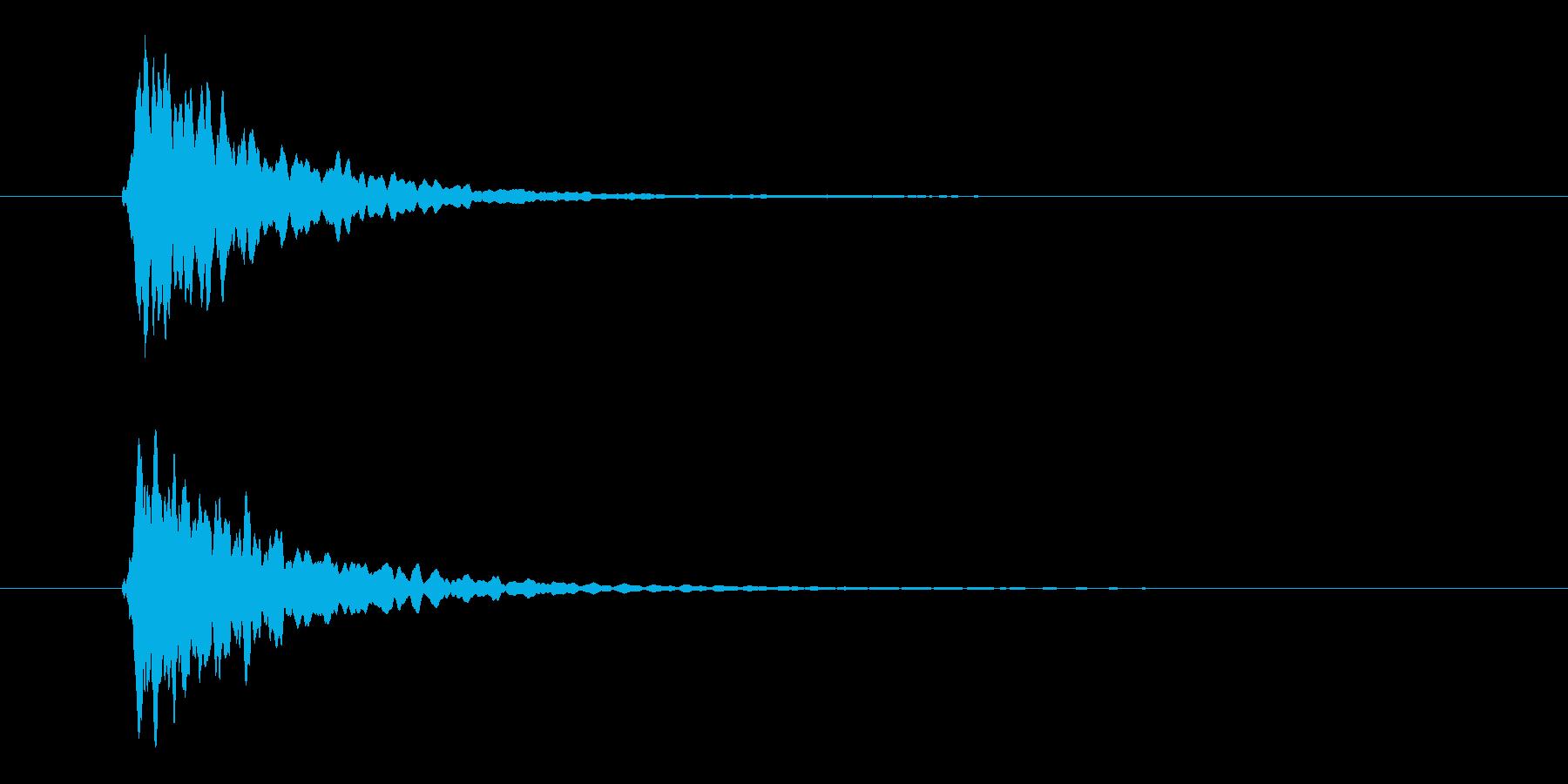 ピーン、テロップ音、シンプル、座布団の再生済みの波形