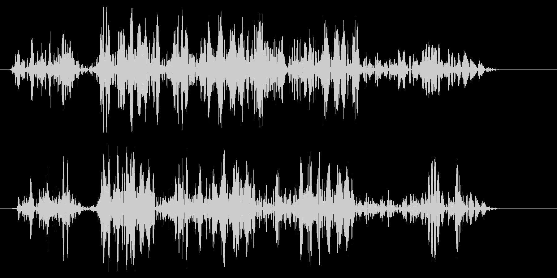 キュルキュル(ロープが巻き取られる音)の未再生の波形