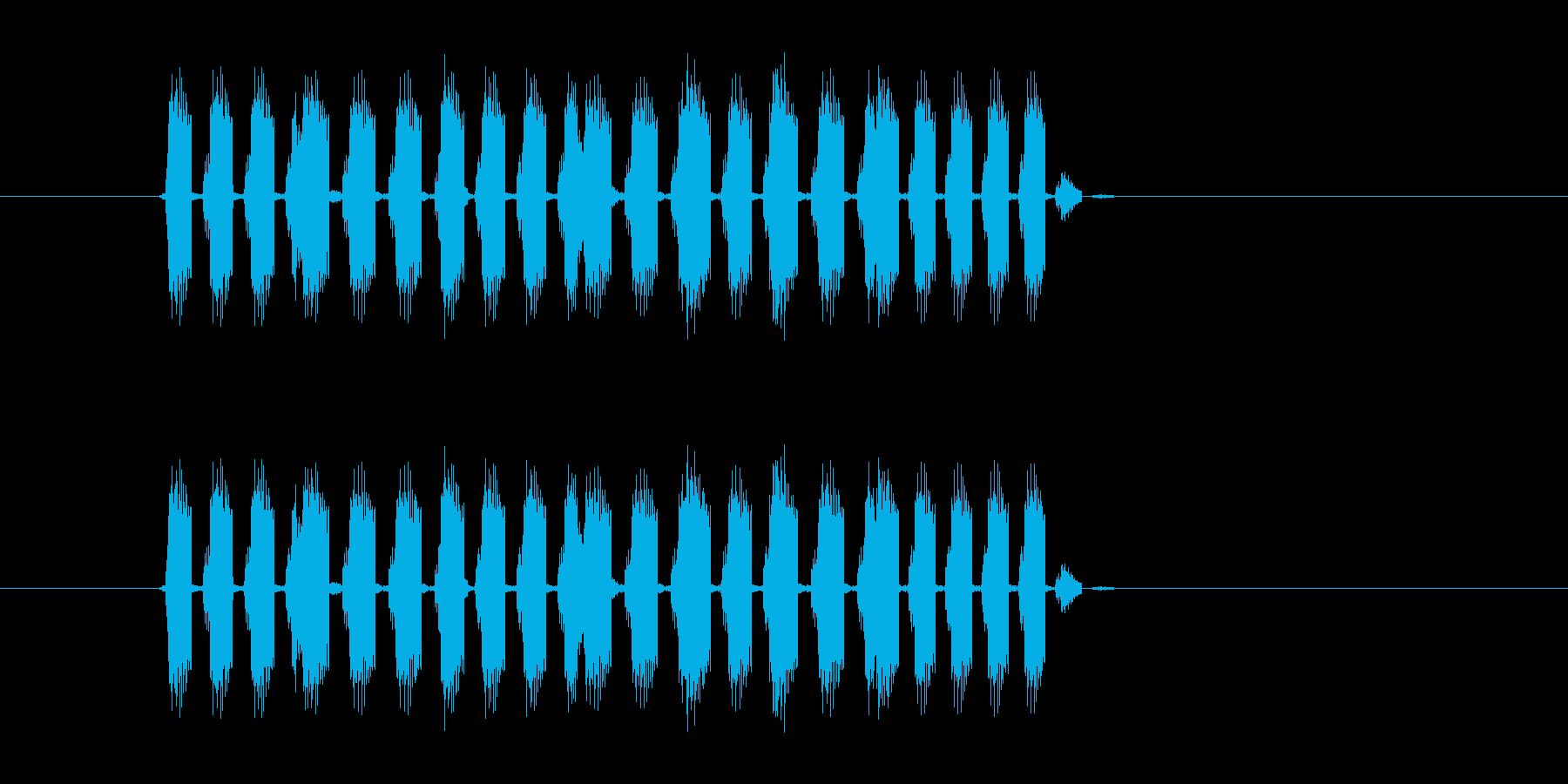 ババババーババババッ!(ランダム再生音)の再生済みの波形