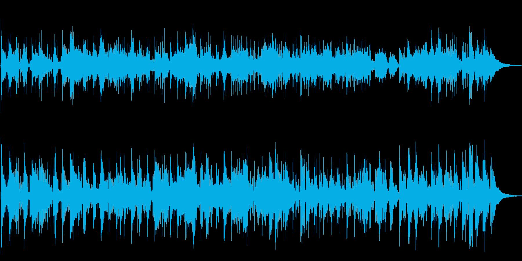 古いフランス映画のBGMをイメージの再生済みの波形