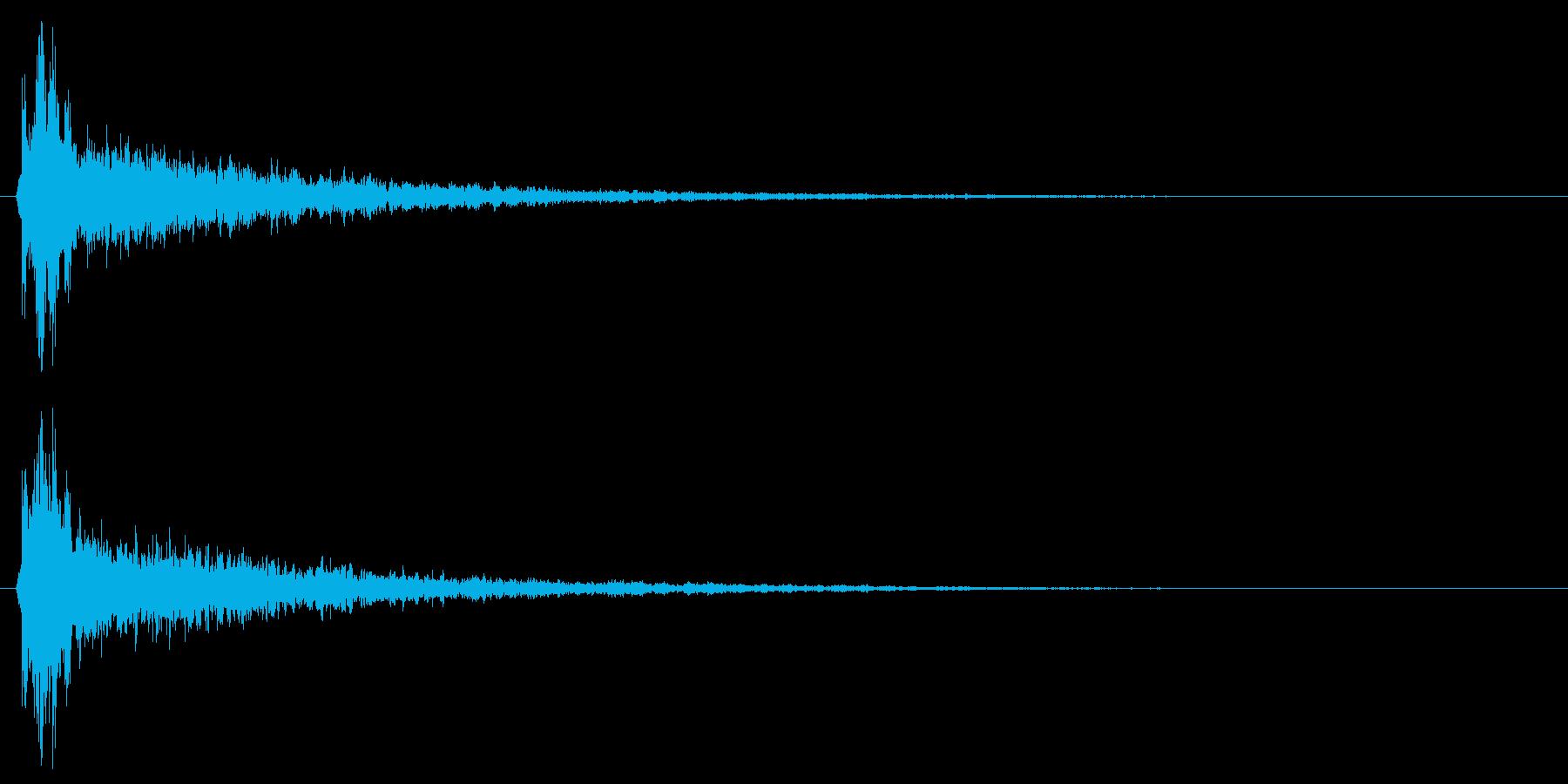 ぽちゃん!余韻が長めのリアル水滴音!04の再生済みの波形