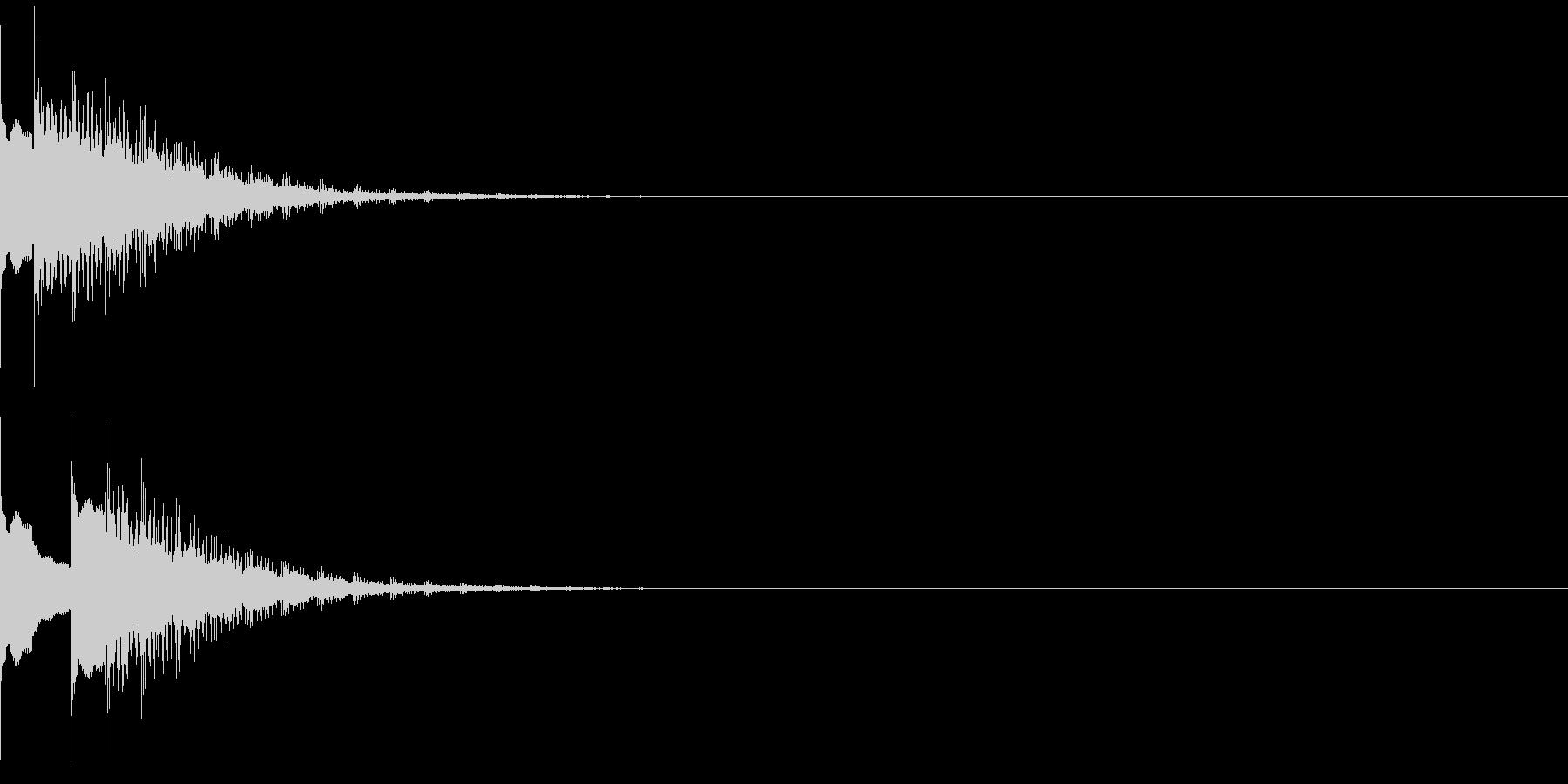 ピュリィィ・・の未再生の波形