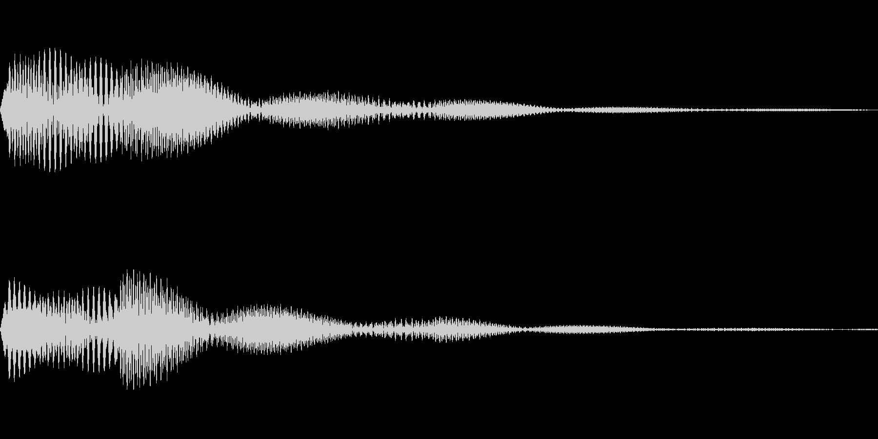かわいくてソフトなタッチ音です。の未再生の波形