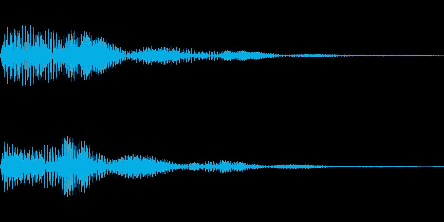 かわいくてソフトなタッチ音です。の再生済みの波形