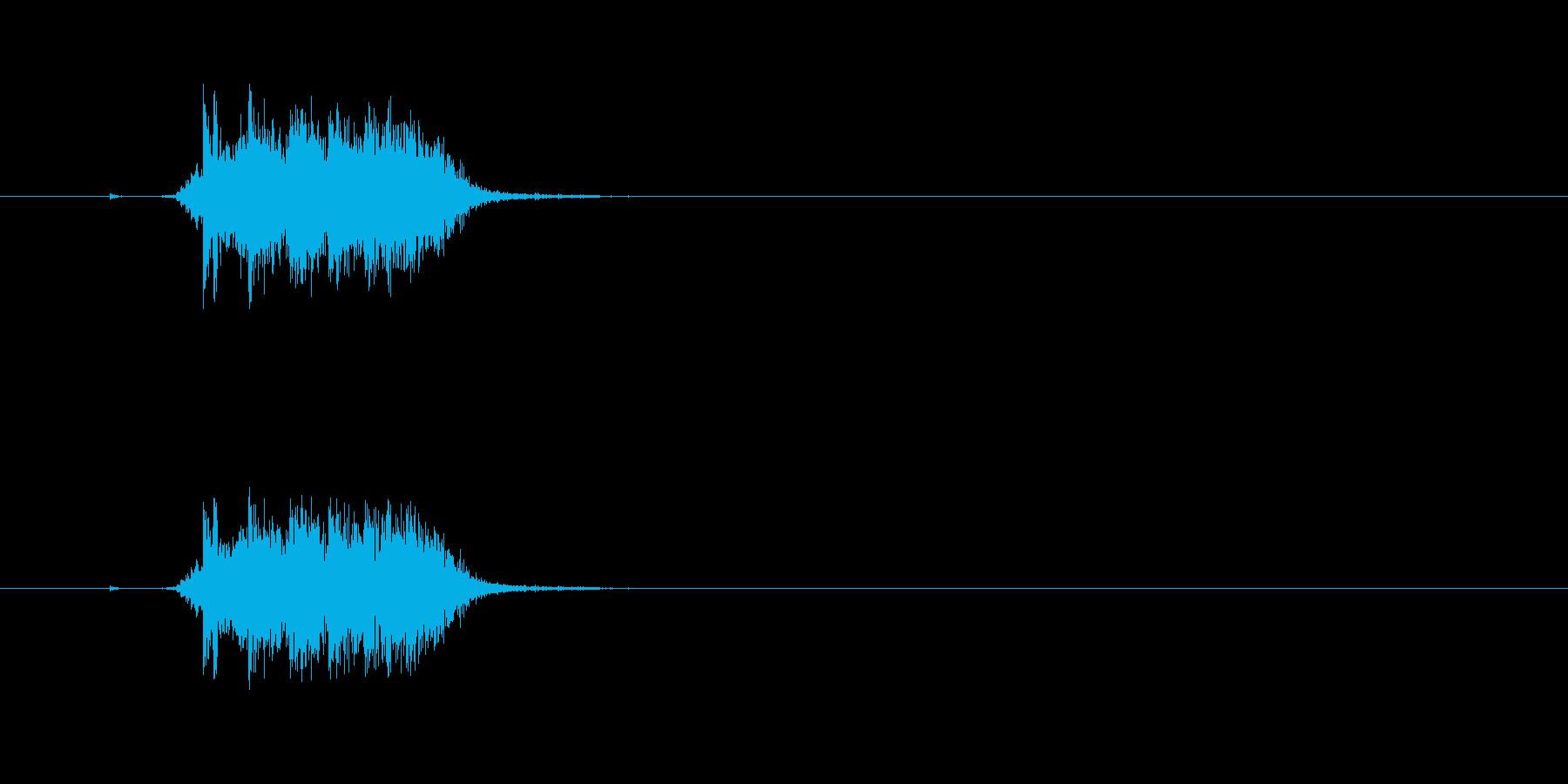 【カーテン02-2】の再生済みの波形
