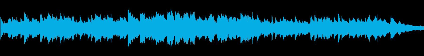 楽しさを表現したオルゴールの再生済みの波形