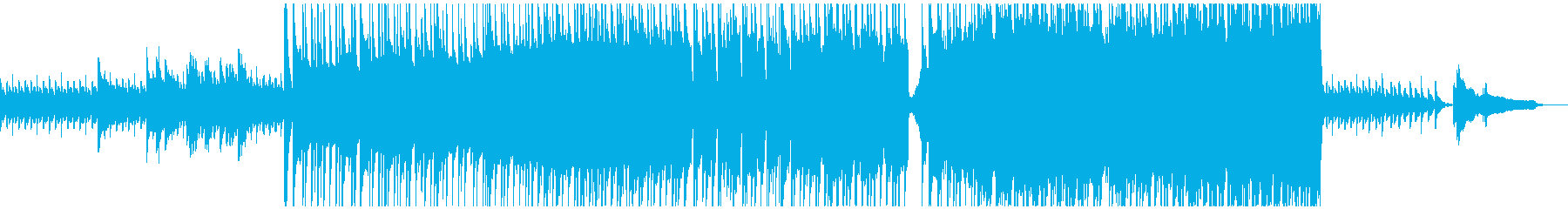 感動的な場面に合った少しずつ盛り上がる曲の再生済みの波形