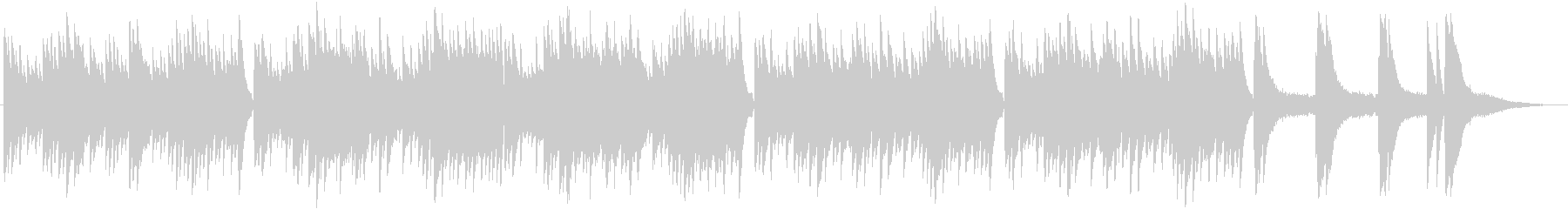 ピアノメインの切ない雰囲気のBGMの未再生の波形