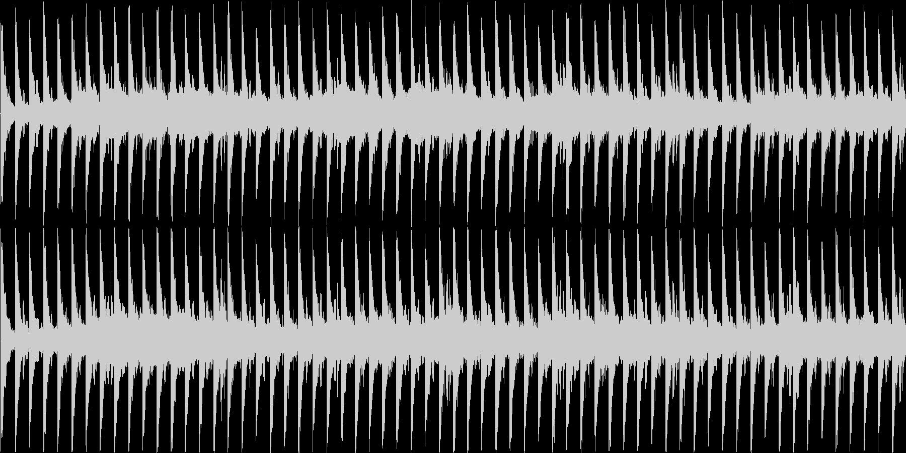 ループ対応のテクノを強く意識した楽曲の未再生の波形