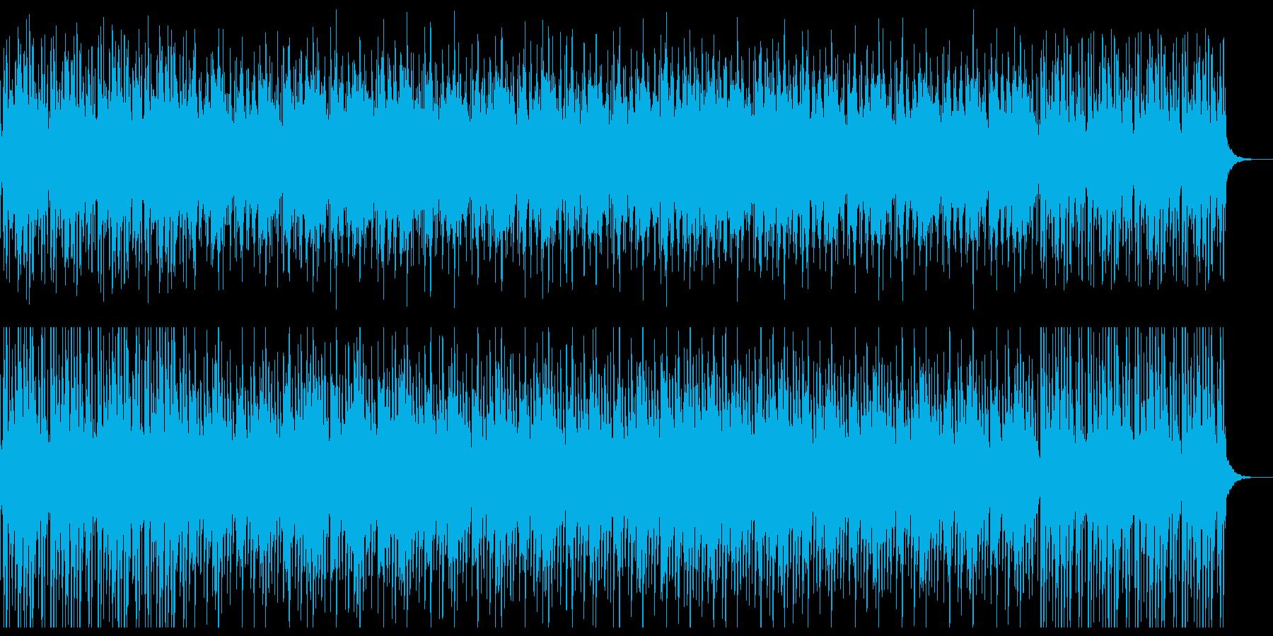 愉快なシンセ音楽の再生済みの波形
