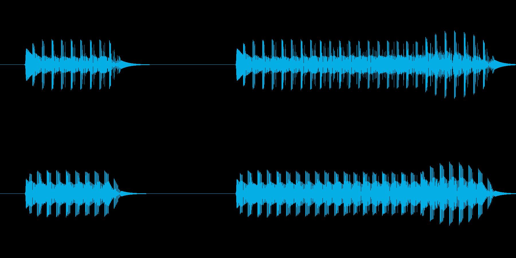 ゲーム、クイズ(ブー音)_013の再生済みの波形