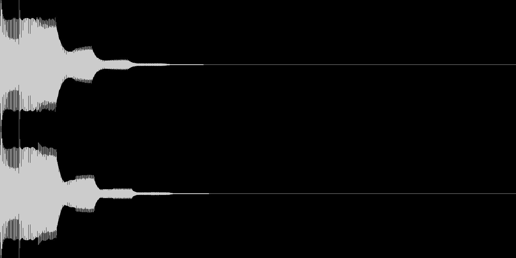 決定音77の未再生の波形