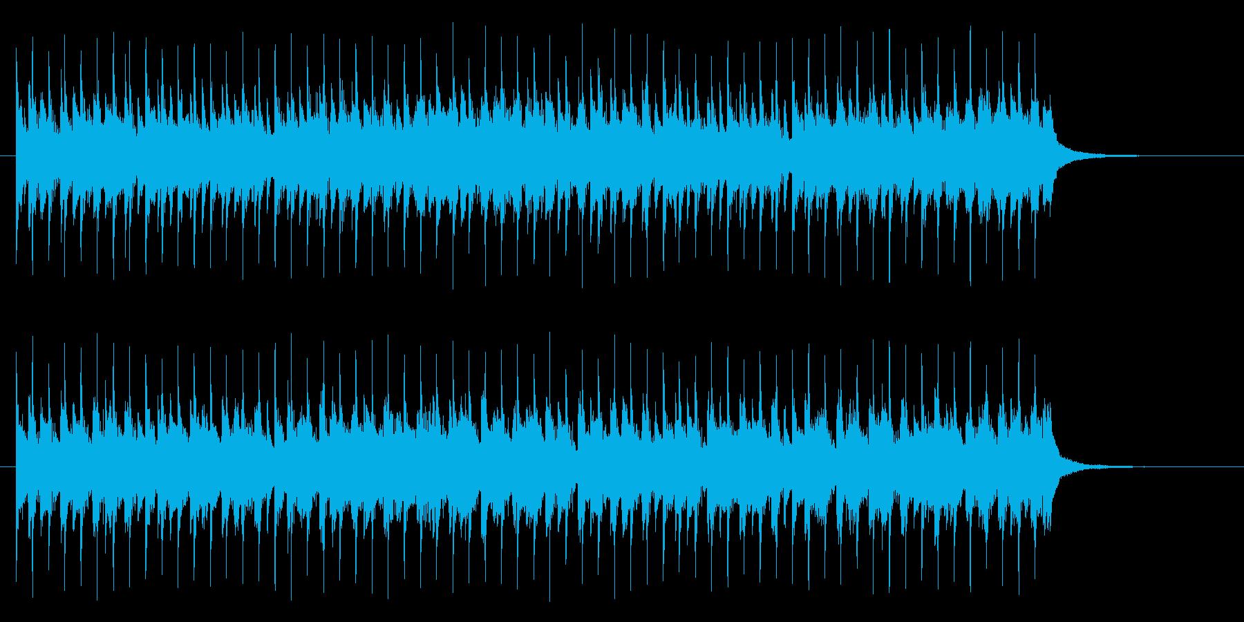 わくわくする壮大な雰囲気の曲の再生済みの波形