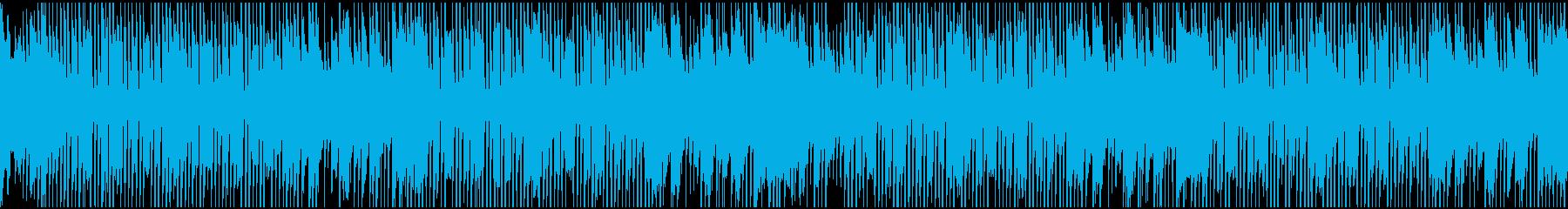 可愛い明るめのホーンのBGM(ループ)の再生済みの波形