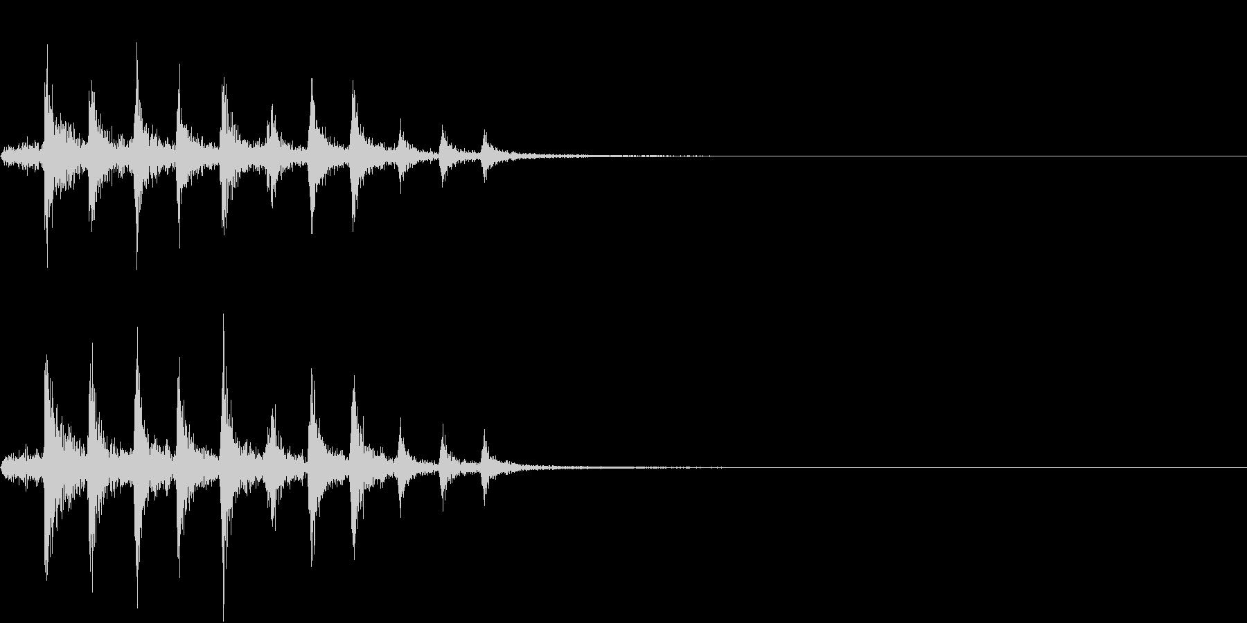 Bicycle 自転車のチェーンの音の未再生の波形