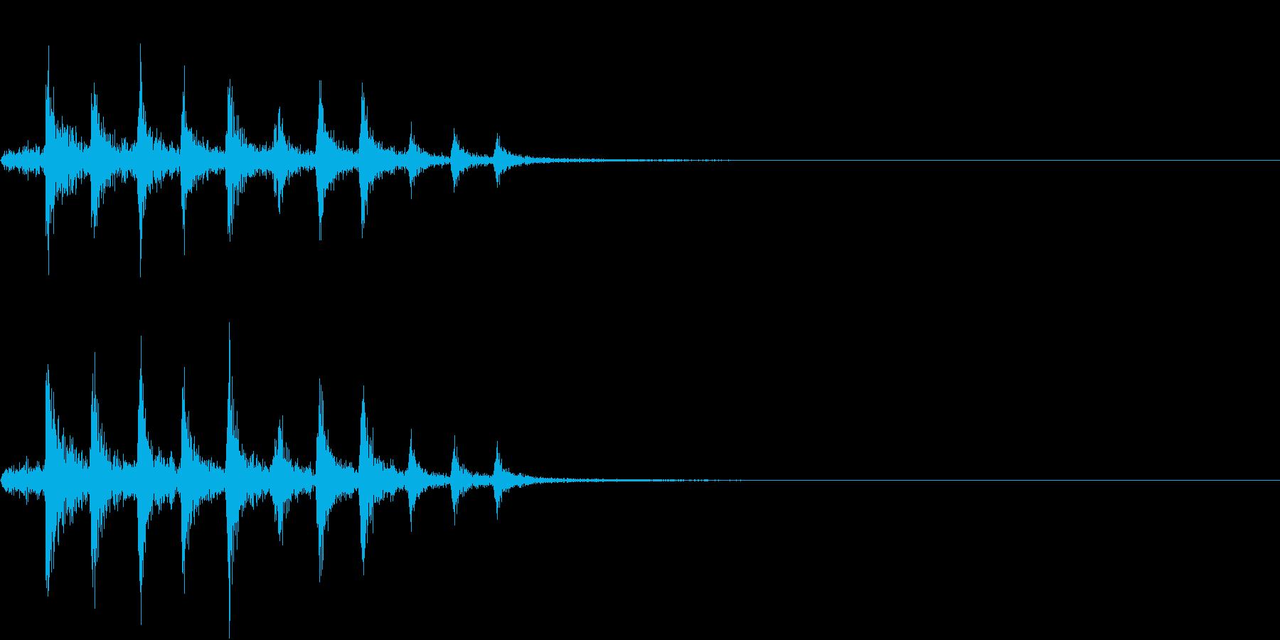 Bicycle 自転車のチェーンの音の再生済みの波形