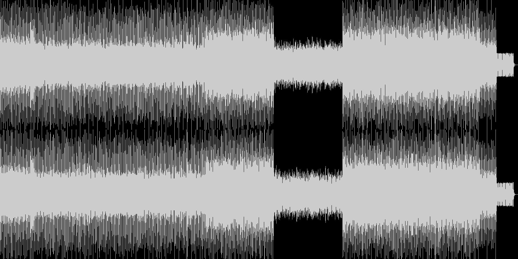 ハイパーポップの未再生の波形