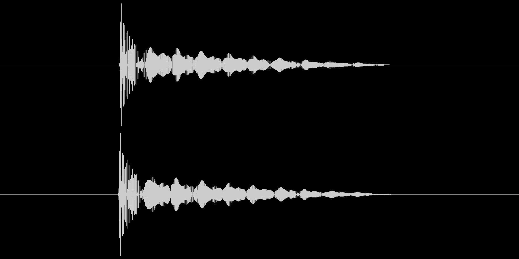 ダメージを受けた時の音の未再生の波形