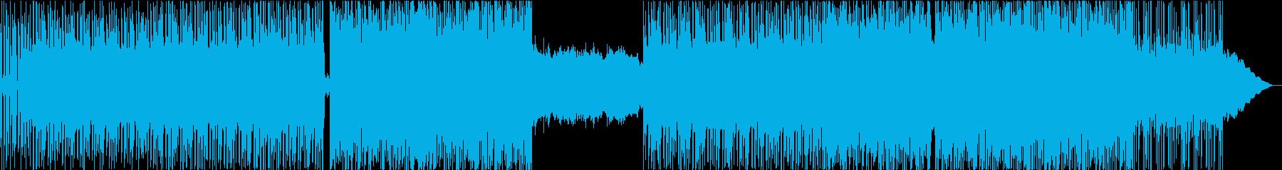 歪んだギターのアルペジオと変拍子の再生済みの波形