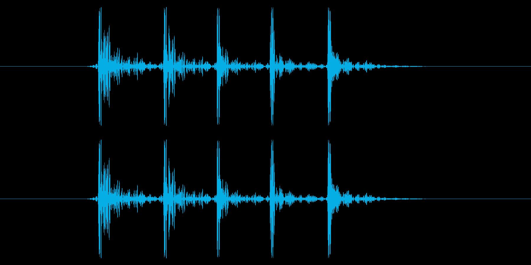 「コンコンコンコンコン!」ノックの音で…の再生済みの波形