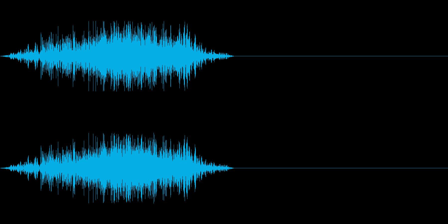 ゾンビやモンスターのアタック2の再生済みの波形