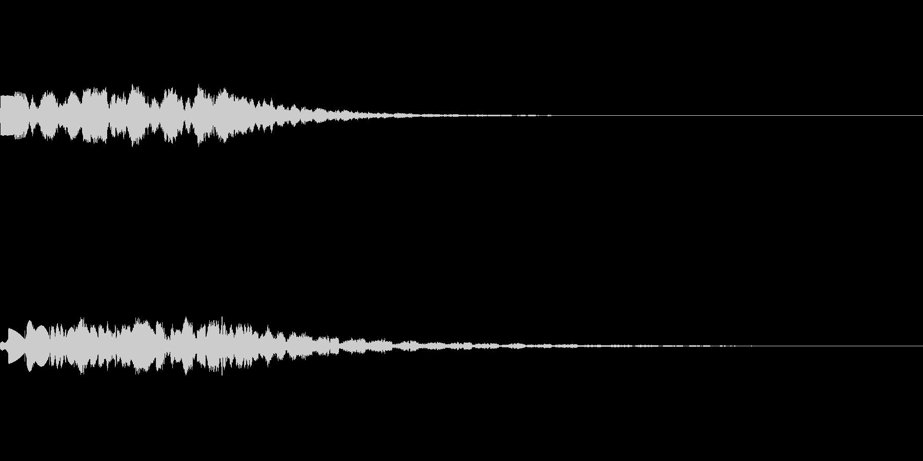 昭和の特撮にありそうな未来・ワープ音の未再生の波形