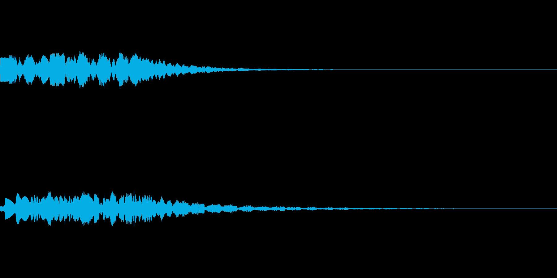 昭和の特撮にありそうな未来・ワープ音の再生済みの波形