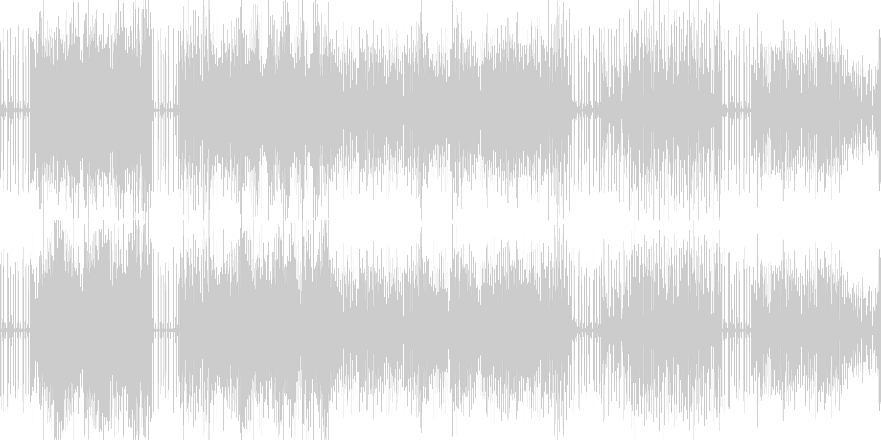 テクノな音楽でサイエンス的の未再生の波形
